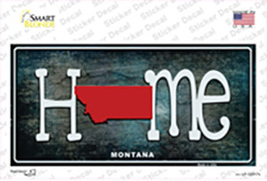 Montana Home State Outline Wholesale Novelty Sticker Decal