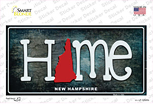 New Hampshire Home State Outline Wholesale Novelty Sticker Decal