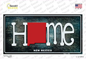 New Mexico Home State Outline Wholesale Novelty Sticker Decal