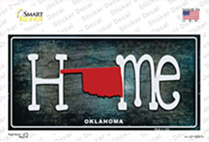 Oklahoma Home State Outline Wholesale Novelty Sticker Decal