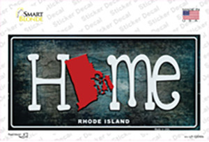 Rhode Island Home State Outline Wholesale Novelty Sticker Decal
