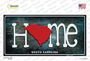 South Carolina Home State Outline Wholesale Novelty Sticker Decal