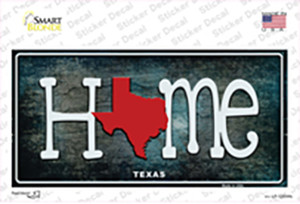 Texas Home State Outline Wholesale Novelty Sticker Decal