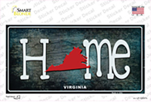 Virginia Home State Outline Wholesale Novelty Sticker Decal