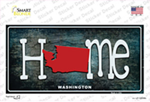 Washington Home State Outline Wholesale Novelty Sticker Decal