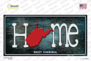 West Virginia Home State Outline Wholesale Novelty Sticker Decal