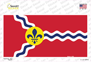 St. Louis State Flag Missouri Wholesale Novelty Sticker Decal