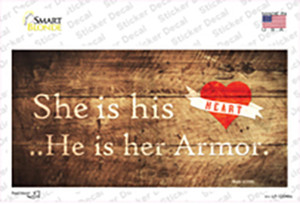 His Heart Her Armor Wholesale Novelty Sticker Decal