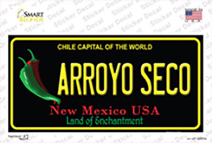 Arroyo Seco Black New Mexico Wholesale Novelty Sticker Decal