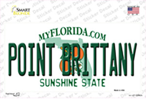 Florida Point Brittany Wholesale Novelty Sticker Decal