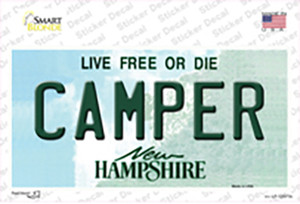Camper New Hampshire State Wholesale Novelty Sticker Decal
