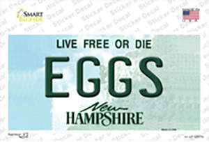 Eggs New Hampshire State Wholesale Novelty Sticker Decal