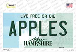 Apples New Hampshire State Wholesale Novelty Sticker Decal