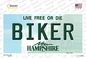 Biker New Hampshire State Wholesale Novelty Sticker Decal