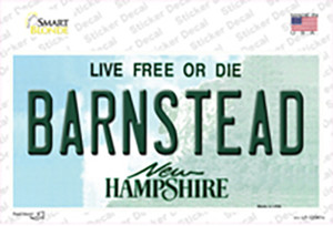 Barnstead New Hampshire State Wholesale Novelty Sticker Decal