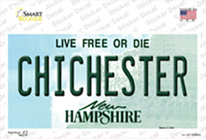 Chichester New Hampshire State Wholesale Novelty Sticker Decal