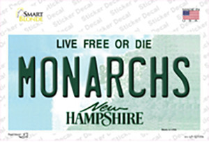 Monarchs New Hampshire Wholesale Novelty Sticker Decal