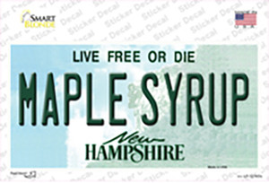 Maple Syrup New Hampshire Wholesale Novelty Sticker Decal