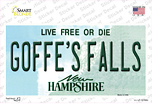 Goffes Falls New Hampshire Wholesale Novelty Sticker Decal