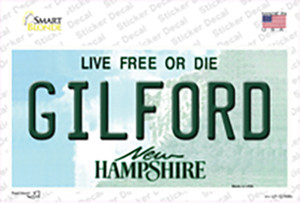 Gilford New Hampshire Wholesale Novelty Sticker Decal