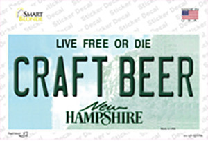 Craft Beer New Hampshire Wholesale Novelty Sticker Decal