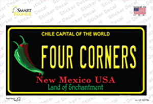 Four Corners New Mexico Black Wholesale Novelty Sticker Decal