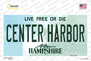 Center Harbor New Hampshire Wholesale Novelty Sticker Decal
