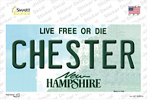 Chester New Hampshire Wholesale Novelty Sticker Decal