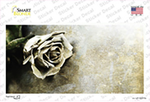 Black and White Rose Wholesale Novelty Sticker Decal