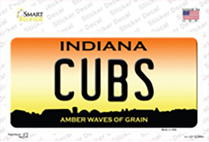 Cubs Indiana Wholesale Novelty Sticker Decal