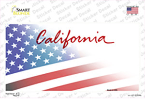 California American Flag Wholesale Novelty Sticker Decal