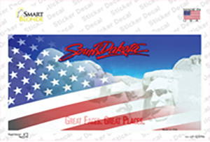 South Dakota with American Flag Wholesale Novelty Sticker Decal