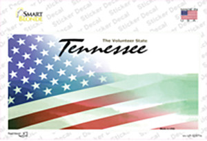 Tennessee with American Flag Wholesale Novelty Sticker Decal