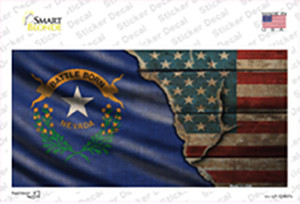 Nevada/American Flag Wholesale Novelty Sticker Decal