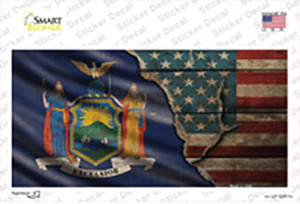 New York/American Flag Wholesale Novelty Sticker Decal