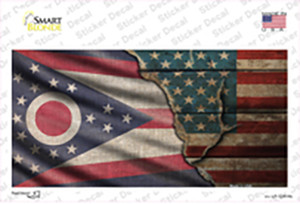 Ohio/American Flag Wholesale Novelty Sticker Decal