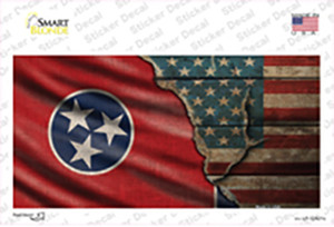 Tennessee/American Flag Wholesale Novelty Sticker Decal