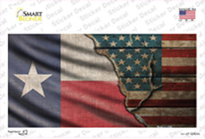 Texas/American Flag Wholesale Novelty Sticker Decal