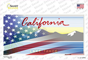 California Tahoe American Flag Wholesale Novelty Sticker Decal