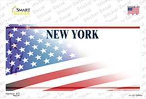 New York Liberty American Flag Wholesale Novelty Sticker Decal