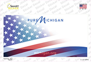 Pure Michigan American Flag Wholesale Novelty Sticker Decal
