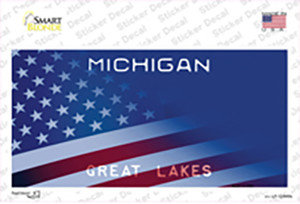 Michigan Great Lakes American Flag Wholesale Novelty Sticker Decal