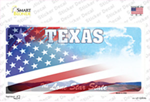 Texas Lone Star American Flag Wholesale Novelty Sticker Decal