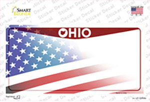 Ohio State American Flag Wholesale Novelty Sticker Decal