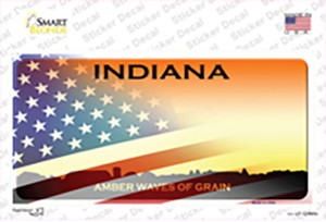 Indiana Amber Waves American Flag Wholesale Novelty Sticker Decal