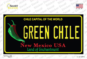Green Chile New Mexico Black Wholesale Novelty Sticker Decal