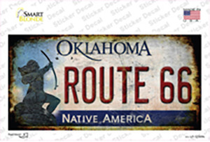 Route 66 Oklahoma Rusty Wholesale Novelty Sticker Decal