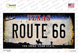 Route 66 Texas Wholesale Novelty Sticker Decal