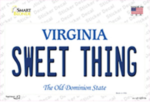 Sweet Thing Virginia Wholesale Novelty Sticker Decal