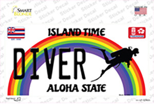 Diver Hawaii Wholesale Novelty Sticker Decal